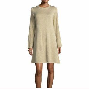 MICHAEL KORS GOLD SHIMMER SHIFT DRESS SMALL